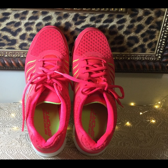 Skechers Shoes   Skechers Hot Pink And